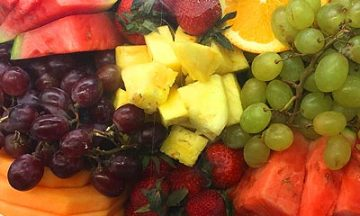 Food tray with fresh produce. We delivery all categories of groceries in Santa Rosa Beach Florida and surrounding areas in 30A.