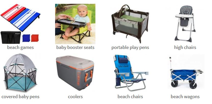 find beach and baby rental items near you in Northwest Florida