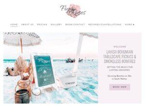 screenshot of Fiya & Roses website